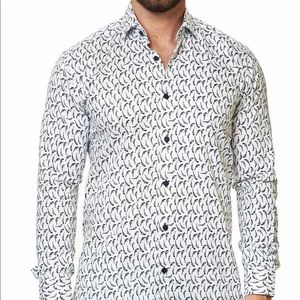 NWT Maceoo Button Down Gun Long Sleeve Shirt Men S